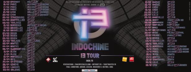 Dates 13 Tour (après Nice)