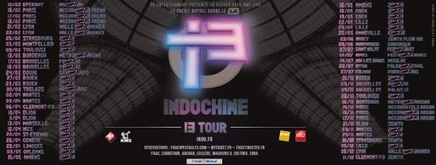 Dates 13 Tour (peu avant Nancy)