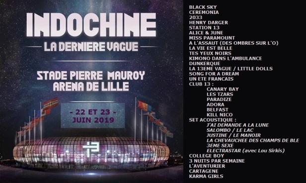 Setlist Lille (22 et 23 juin 2019)