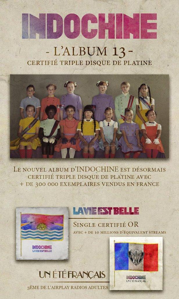 Triple disque de platine pour 13