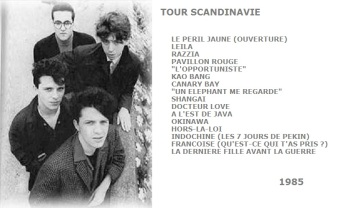 Setlist Tour Scandinavie