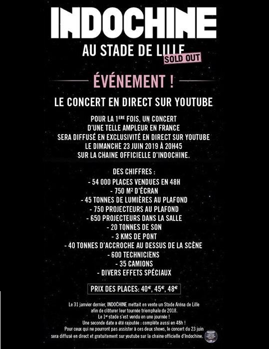 Annonce Concert Lille Dernière Vague sur Youtube