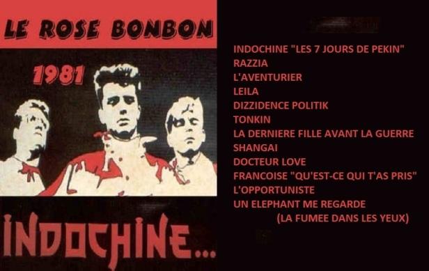 Setlist Le Rose Bonbon