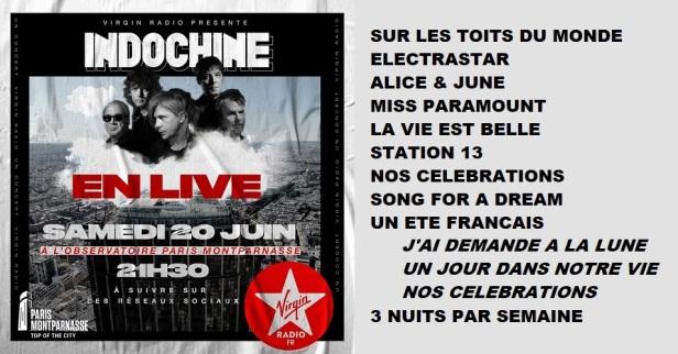 Setlist live sur observatoire tour Montparnasse (20 juin 2020)