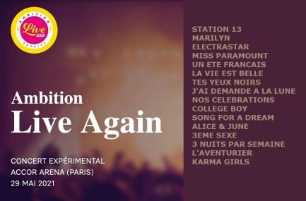 Setlist concert test - 29 mai 2021