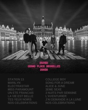 Setlist concert Bruxelles 25 septembre 2021